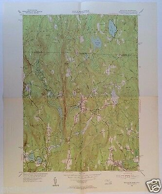 ROYALSTON, Mass RICHMOND MA Fitzwilliam LAUREL LAKE 1954 USGS TOPOGRAPHICAL MAP