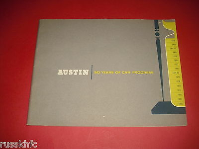 1955 Austin Motor Car 50 Years Brochure - Many Pictures