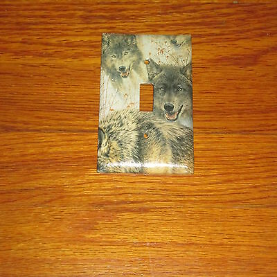 Wild Grey Timber Wolf Wolves Light Switch Cover Plate #2