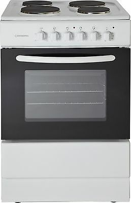 Cookworks CES60W Free Standing 60cm Single Electric Cooker - White -From Argos