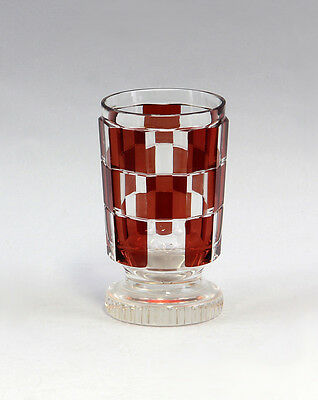 Foot bowl with checkerboard Bohemia 25435090