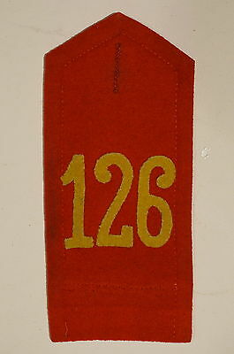 WW1 Imperial German 126th (8th Wurttemberg) Infantry Shoulder Board