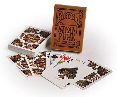 Jeu de cartes poker magie Bicycle Steam Punk Bronze neuves plastifiées