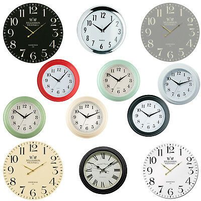 New Large Vintage Round Modern Home Bedroom Retro Time Kitchen Wall Clock Quartz