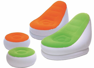 Bestway Comfort Cruiser Inflate-A-Chair with Footrest Dorm Seat Sofa Inflatable