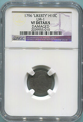1796 Likerty Half Dime. LM-1 NGC VF Details. RARE.