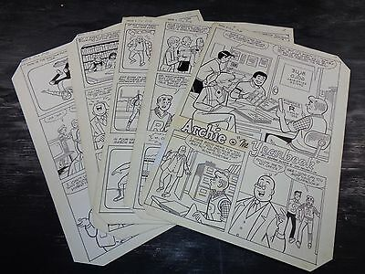 Original Art Story (Archie 336) 5 Pages COMPLETE! DECARLO JR 1985 ART#517
