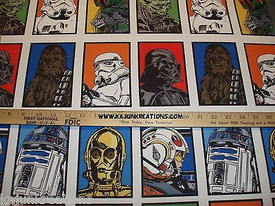 """60"""" STAR WARS the FORCE Awakens BTHY polyester MOVIE fabric SEW Your OWN VALANCE"""