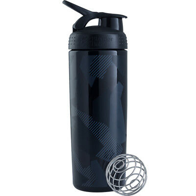 Blender Bottle SportMixer 28 oz. Sleek Tritan Shaker - Shattered Slate Black