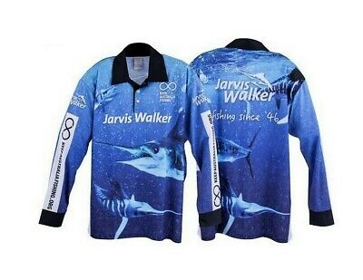 Jarvis Walker Long Sleeve Tournament Fishing Shirt with Collar-Fishing Jersey