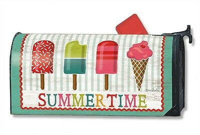Cool Treats Icecream cone Mail Box Wrap flowers magnetic mailwrap mailbox cover