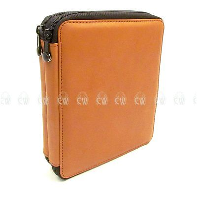 Speedball Global Leather 72 Pencil Case.Brown. Empty Storage Artists Pencil Case