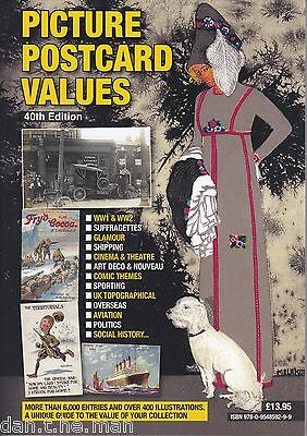 PICTURE POSTCARD VALUES 40th Ed. CATALOGUE 2016 / 2017