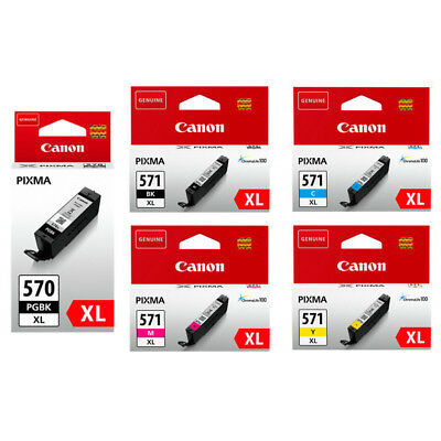 Canon PGI570XL /CLI571XL Original Black & Colour Ink Cartridges for Pixma MG5750