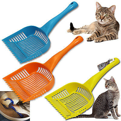 2 Litter Tray Pooper Scooper Dog Cat Kitten Shovel Yard Clean Pet Food Pup Scoop
