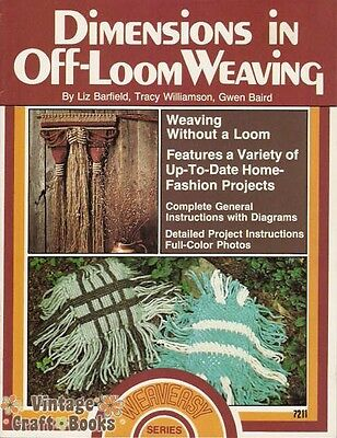 Dimensions in Off-Loom Weaving Vintage Instruction Pattern Book Booklet NEW 1977