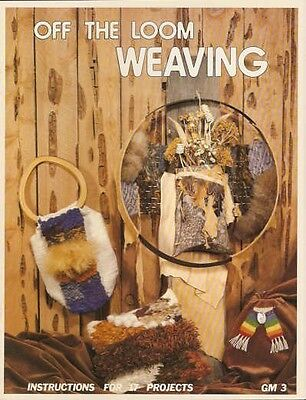 Off The Loom Weaving Pattern Instruction Book 17 Projects NEW 1977 Wall Hangings