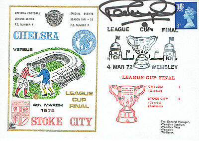 Peter OSGOOD Signed Autograph First Day Cover Chelsea League Cup FDC COA AFTAL