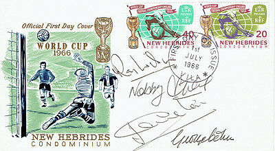 WILSON, STILES, CHARLTON, COHEN Signed Autograph FDC COA AFTAL World Cup 1966
