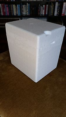 "Styrofoam Container Insulated Shipping Cooler Box 11 x 9 x 12"" outer"