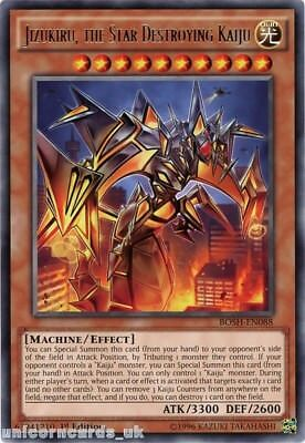 BOSH-EN088 Jizukiru, the Star Destroying Kaiju Rare 1st edition Mint YuGiOh Card