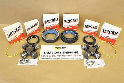 Seal And Greaseable U Joint Kit Ford Super Duty F350 F250 Dana 50 60 Front 98-04