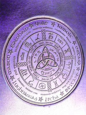 Wicca WHEEL of the YEAR Handmade A5 Refillable Leather Journal, Choice of Paper