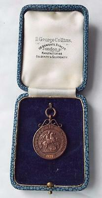 St George & The Dragon Boxed 1939 Polytechnic Schools Medal - Swimming -Plunging