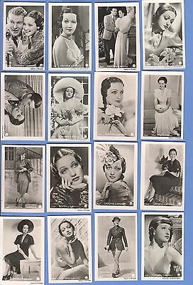 Collection of 39 0riginal vintage 1930's ROSS tobacco photo cards DOROTHY LAMOUR