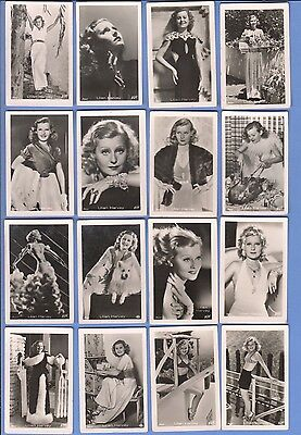 Collection of 34 0riginal vintage 1930's ROSS tobacco photo cards LILIAN HARVEY