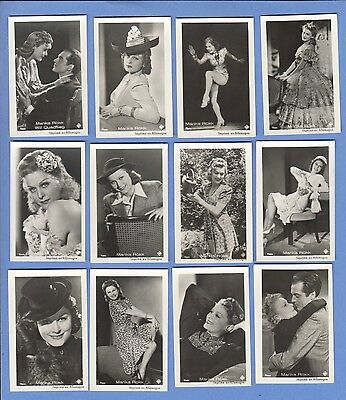 Collection of 19 0riginal vintage 1930's ROSS tobacco photo cards MARIKA ROKK