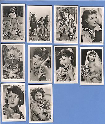 Collection of 10 0riginal vintage 1930's ROSS tobacco photo cards JEAN PARKER