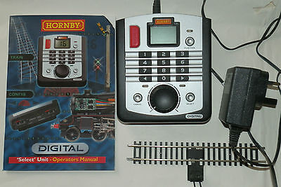 HORNBY Digital R8213 DCC Select Controller plus instructions and power adapter