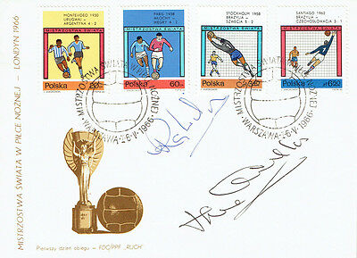 Ray WILSON Jack CHARLTON Signed Autograph FDC COA AFTAL ENGLAND World Cup 1966