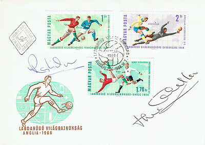 Ray WILSON Jack CHARLTON Signed Autograph FDC COA AFTAL ENGLAND World Cup 1966 C