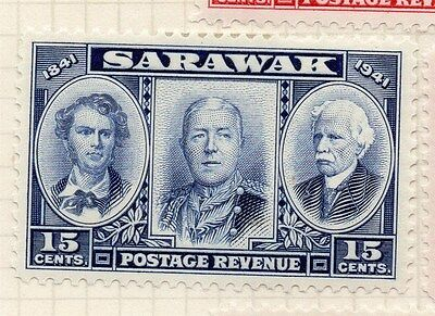 Sarawak 1946 Early Issue Fine Mint Hinged 15c.