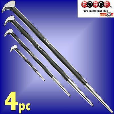 FORCE Tools Professional 4pc Pry Bar Set wrecking crowbar lever pinchbar