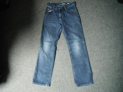 "Gap Kids Straight Jeans Waist 26"" Leg 26"" Faded Dark Blue Boys 12 Yrs Jeans"