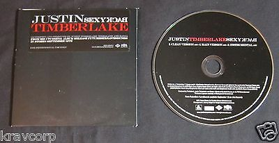 Justin Timberlake 'Sexyback' 2006 Promo Cd Single