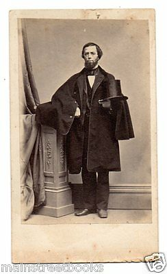 Mansfield CT 1862 CDV Zalmon A Storrs in TOP HAT Postmaster Justice of the Peace