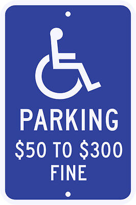 3M Reflective CALIFORNIA State Specified Disabled Parking Sign-V Municipal Grade