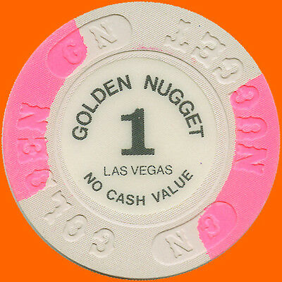 $1 1989 Golden Nugget Casino No Cash Value Chip Las Vegas Nv - Free Shipping