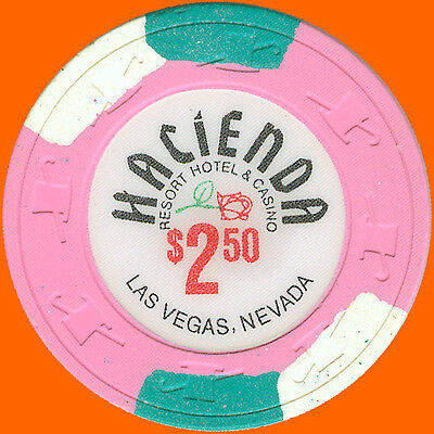 Hacienda $2.50 1988 Obsolete Casino House Chip Las Vegas Nv - Free Shipping