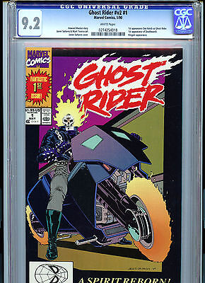 Ghost Rider vol 2  #1 Marvel Comics CGC 9.2 1990 1st Appearance of Dan Ketch
