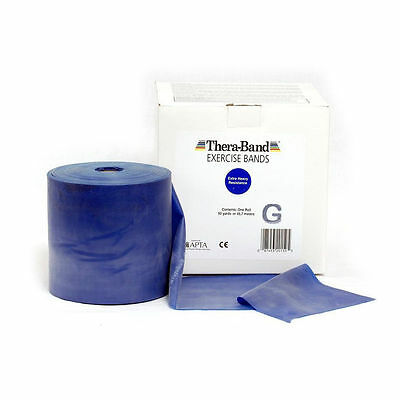 THERA-BAND ® 2,0 m blau Gymnastikband Original Theraband von der Rolle