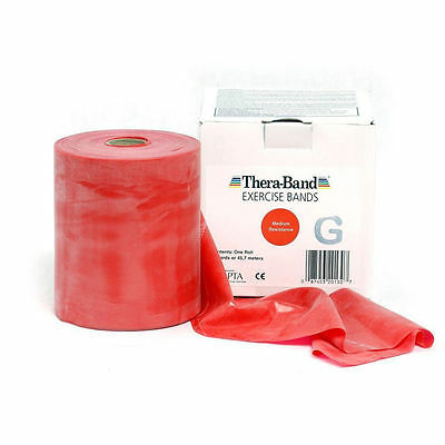 THERA-BAND ® 2,0 m rot Gymnastikband Original Theraband von der Rolle