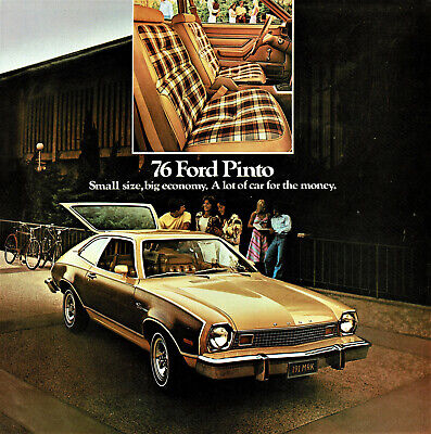 1976 Ford Pinto Sedan Runabout Wagon Squire Wagon Sales Brochure