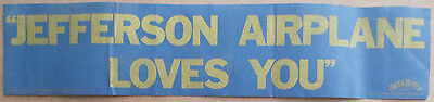 "Vintage 1977 ""JEFFERSON AIRPLANE LOVES YOU"" BUMPER STICKER Rare Original Kantner"