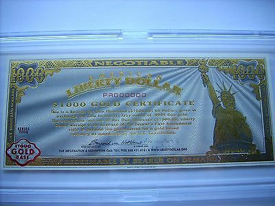 Norfed American Liberty Gold Certificate Mint $1000-1 Oz Gold Rarest Of Them All