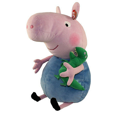 TY Beanie Buddy - GEORGE the Pig (Peppa Pig)(LARGE - 20 inch) -MWMTs Stuffed Toy